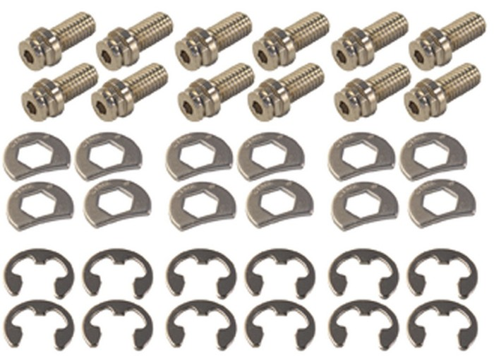 Stage 8 8911 3//4 Locking Header Bolt Kit for GM Small Block