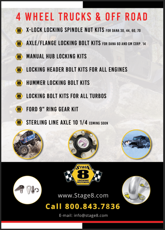 Stage 8 Off-Road Vehicle promotional flyer (rear side)