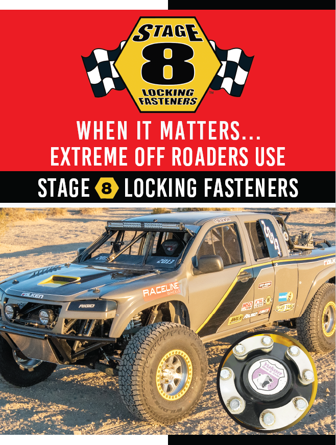 Stage 8 Off-Road Vehicle promotional flyer (front side)